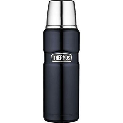 Thermos Isolierflasche Stainless King Blue 0,47 Liter blau mit Trinkbecher