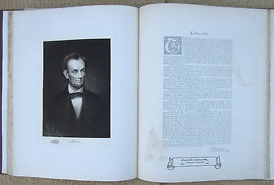 Huge Antique Book U S PRESIDENTS Gravure Portraits from White House 1901, Nice!
