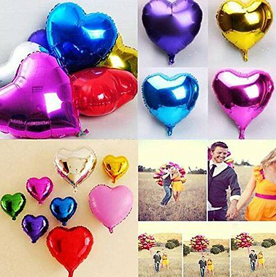 "5"" 10"" 18"" 30"" Heart Foil Balloon Baby Shower Wedding Bridal Shower Propose Love"