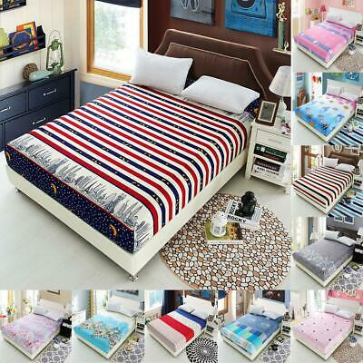 Bed Sheet Fitted Bedspread Mattress Bedding Cloth Cover Quilt Blanket Coverlet