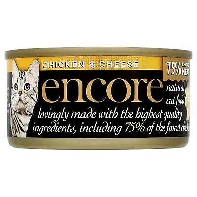Encore Cat Food Tin Chicken and Cheese 70g Pack of 18 Chicken with Cheese
