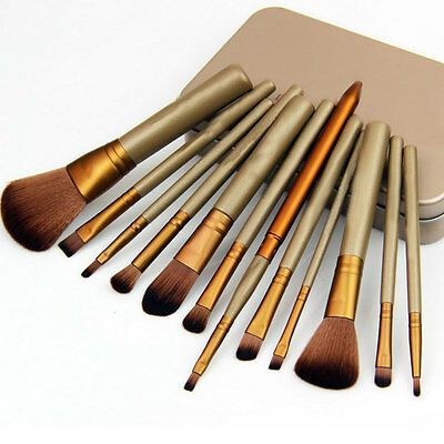 12 Pcs Makeup Tools Kit Cosmetic Eyeshadow Foundation Concealer Brushes Set BE