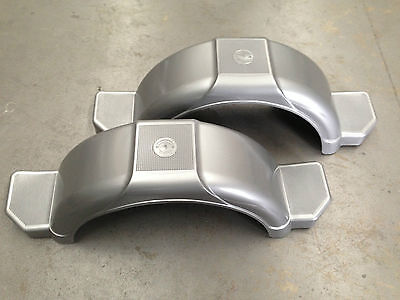 "BOAT TRAILER MUD GUARDS 14/15"" - 1 x PAIR - SILVER GREY - AUSTRALIAN MADE"