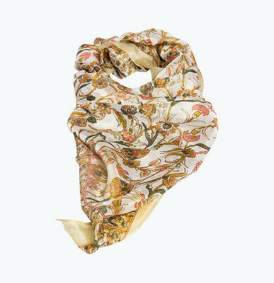 New Women Silk Scarf- Contemporary floral-
