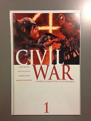 Civil War  #1, 2, 3, 4, 5, 6, 7 Complete High Grade NM Set 2006 Marvel Comics