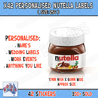 NEW MINI NUTELLA Glass Jar 25g Each 64 Pk  Best Before 24/11/2019