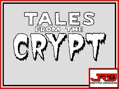 Tales from the Crypt pinball Art vinyl sticker in Black and White