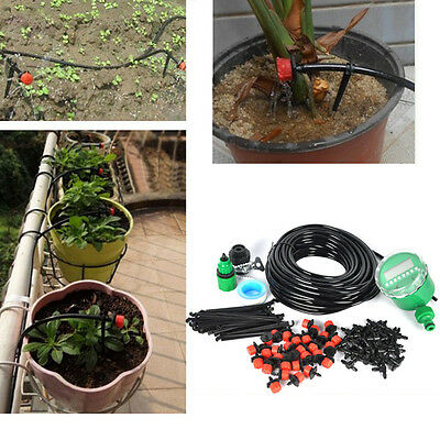 25M Garden Watering Irrigation system Automatic Timer Plant Water Drip Hose