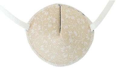Medical Eye Patch, TINY FLOWERS ON PEACH, Soft and Washable Fabric