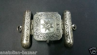 "Ottoman Antique Silver Arm Pray Container ""pazu Band"""