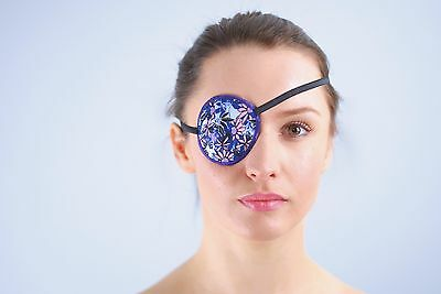 Medical Eye Patch, FLOWERS, Soft and Washable Fabric