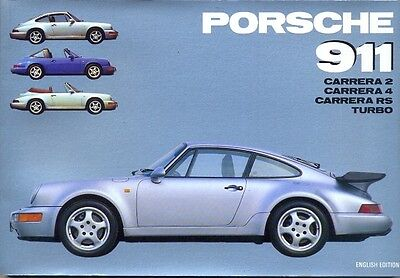 Porsche 911 Carrera 2 Carrera 4 Carrera RS & Turbo - out-of-print history book!