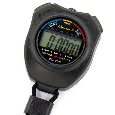 Stopwatch Stop Watch LCD Digital Professional Chronograph Timer Counter Fashion