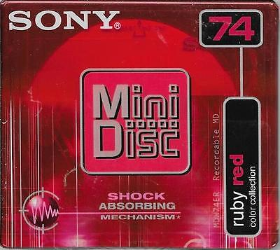 Sony Mini Disc Ruby Red 74 Minutes