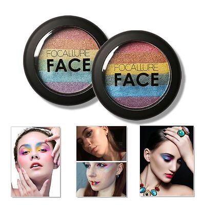 Ladies Beauty Rainbow Color Contour Shading Powder akeup Face Highlight Bronzer