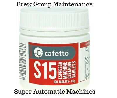 Cafetto S15 Espresso Coffee Cleaning Tablets 100Pk Breville, Saeco Delonghi Jura