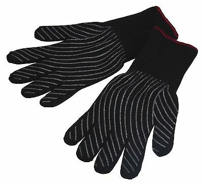 Master Class Professional Heat-Resistant Safety Oven Gloves - Black