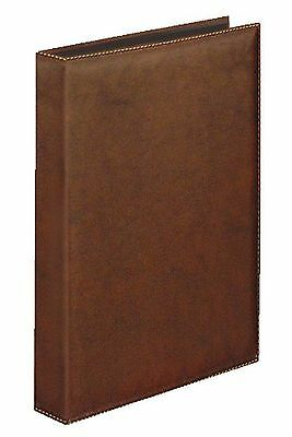 Ring Binder A4 Exquisite 4 Ring Leather Look in Brown