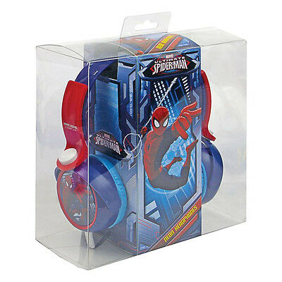 Kids' Lightweight Spiderman Dynamic Stereo DJ Style Blue Red Music Headphones