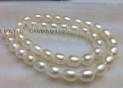 AAA 7-8mm rice freshwater cultured pearl strands Free shipping