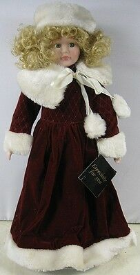 """Vintage 16"""" Tall Porcelain Doll With Dress House of Lloyd"""