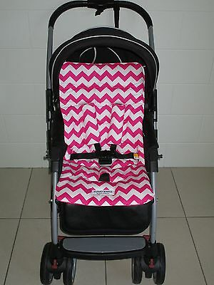 *HOT PINK CHEVRON*universal stroller,pram,car seat liner set *NEW*