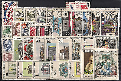 Czechoslovakia 1968, Complete Year Set Stamps + Sheets, **mnh**