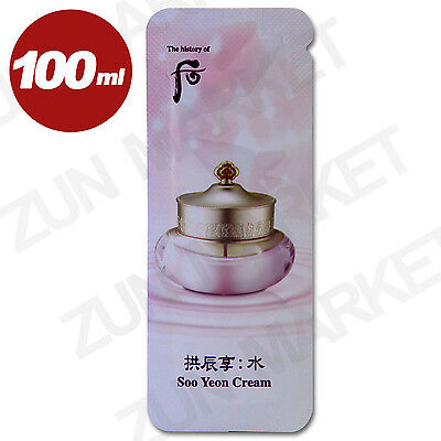 The History of Whoo Soo Yeon Cream Moisturizers Anti-Aging 1ml x 100pcs (100ml)