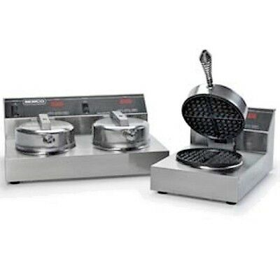 NEW! Dual Waffle Baker With Silverstone - 240 Volt!!