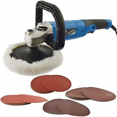 180mm Machine Polisher 1200W Electric Variable Speed Rotary Car Sanding Kit