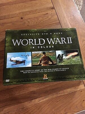 THE HISTORY CHANNEL -  'WORLD WAR 2 IN COLOUR' - Book and DVD