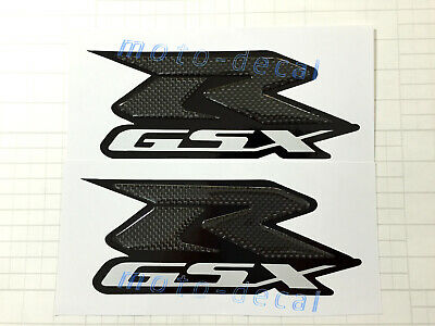 Real Carbon Firber Emblem S Suzuki GSXR1000 750 600 Tank Decal Fairing Sticker