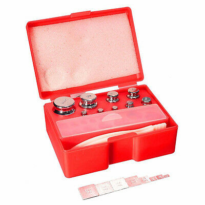 17Pcs 211.1g 10mg-100g M2 Set Grams Precision Calibration Weight Digital ED