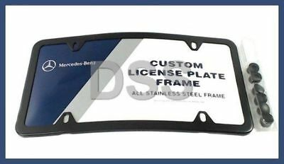Genuine For Mercedes C E G S ML GL Curved Stainless Steel License Plate Frame