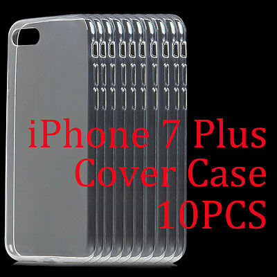 Hot 10Pcs/Lot Ultra-Thin Clear Soft TPU Transparent Case Cover For iPhone 7 Plus