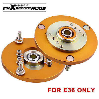 2pcs Camber Plates top mounts for BMW E36 +/-3 Front Suspension Coilover new