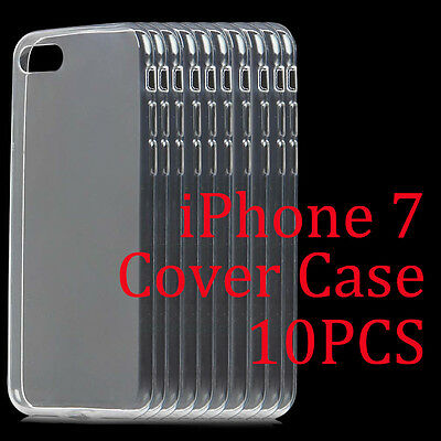 Wholesale 10PCS Ultra-Thin Clear Soft TPU Transparent Case Cover For iPhone 7