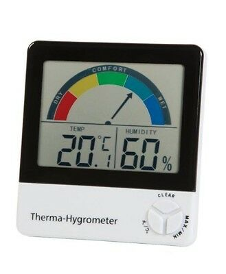 Thermometer Hygrometer Humidity Comfort Zone Indication Rooms Healthy Living