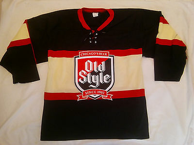 Old Style Custom Made Hockey Jersey Beer Sign..Mens Large...New...MADE IN CANADA