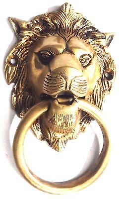 Brass Handmade Lion Shape Antique Vintage Style Door Knocker,Door Pull,Home DEco