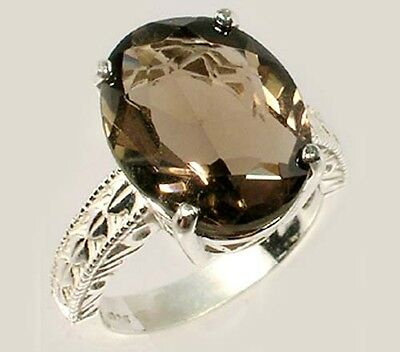 19thC Antique 7½ct Scotland Cairngorm Smoky Quartz Ancient Rome Intaglio Gem