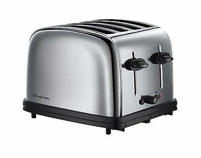 Russell Hobbs 1376756 Grille-Pain Rétro 4 Fentes 1800 W Inox