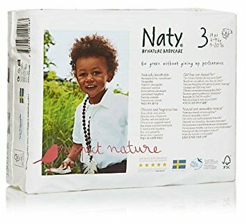 Naty by Nature Babycare Couches Écologiques Jetables Taille 3 Midi 4-9 Kg (4 X