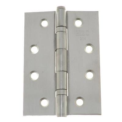 Pack Size 1 Pair Fixed Pin Hinge 100mm x 70mm x 1.9mm Stainless Butt 8 Hole
