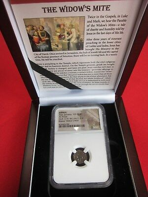 "1 - NGC SLABBED ANCIENT ROMAN COIN ""PRUTAH WIDOW'S MITE"" as in the Bible"