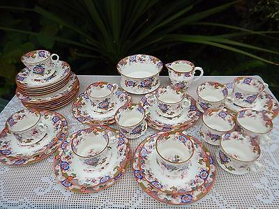"Cauldon China ""Bentick"" Multi colours tea service"