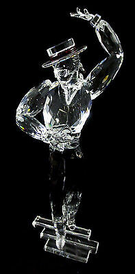 Swarovski Crystal Magic Of Dance 2003 Antonio Figurine With  Plaque New In Box