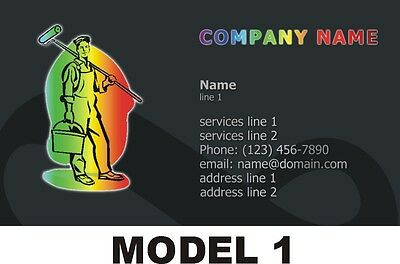 500 Business Cards - Painting Service -  7 Models - Free Shipping
