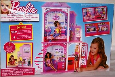 Mattel Barbie W3155 - 2-storey Beach house with 4 Rooms and accessories