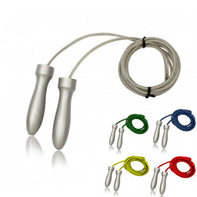 Oscar wire/Leather Jump/Skipping Rope with Silver Handles